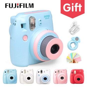 Oryginalne Kompaktowy Fuji Fujifilm Instax Mini 8 Aparat Natychmiastowy Druk Regularne Film Migawkę Fotografowania Zdjęcia biały czerwony fioletowy różowy