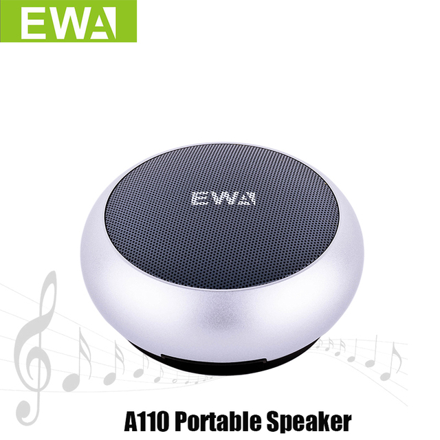 EWa A110 Altoparlante Portatile Per Il Telefono/Tablet/PC Mini Altoparlante Senza Fili del Bluetooth Metallic Ingresso USB MP3 Giocatore di Sport altoparlanti