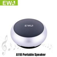 Ewa altavoz A110 portátil para teléfono/tableta/PC, Mini Altavoz Bluetooth inalámbrico, metálico, entrada USB, reproductor MP3, altavoces deportivos