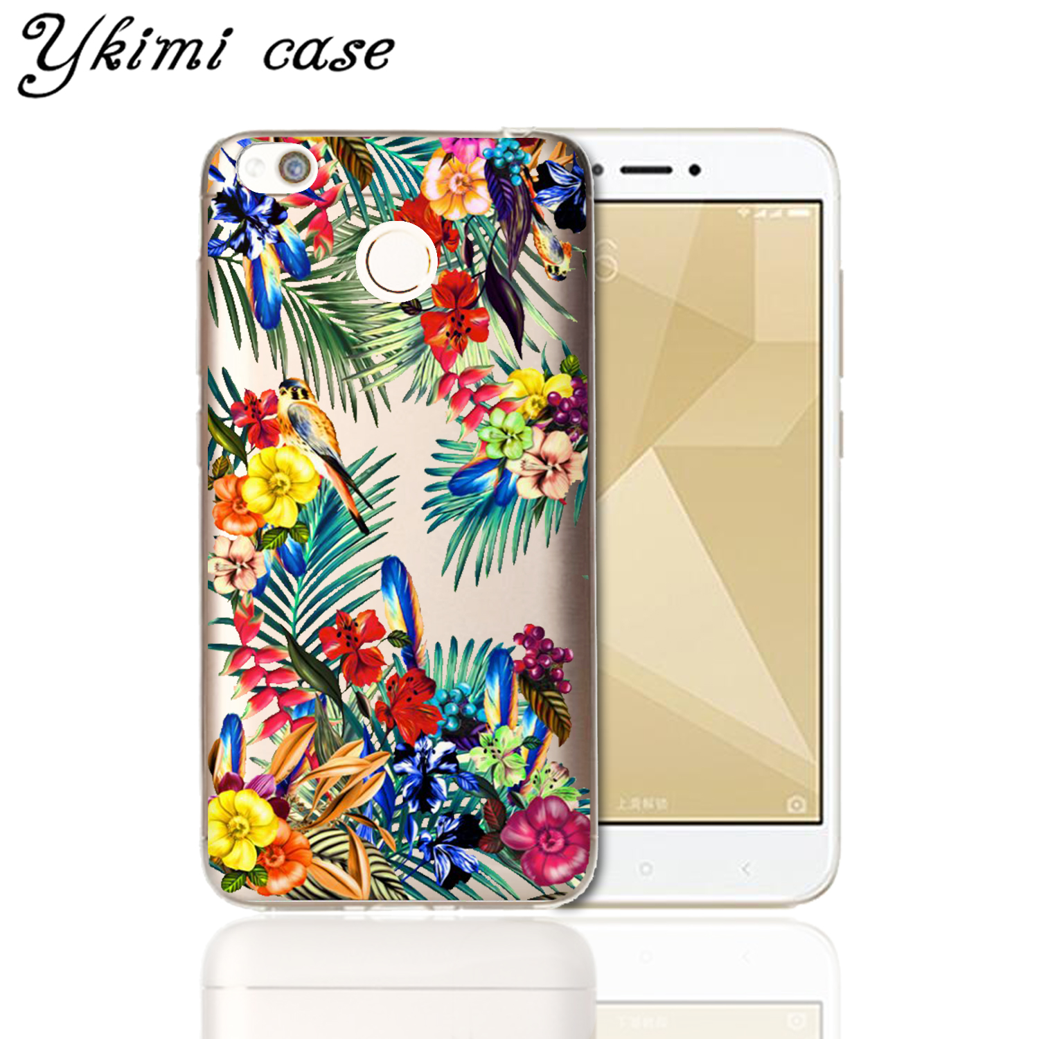 Fashion transparent soft silicone tpu capa for xiaomi redmi 4x cover fashion transparent soft silicone tpu capa for xiaomi redmi 4x cover case beautiful cartoon flower design phone shell in fitted cases from cellphones izmirmasajfo