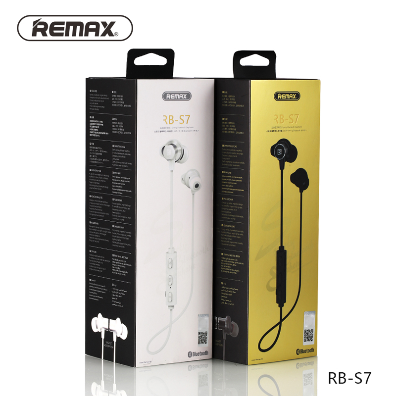 Remax Magnetic Neckband Sport Headphones Bluetooth Headset Wireless HD Stereo Earphone Music Headphone With MIC Multi Connect remax 2 in1 mini bluetooth 4 0 headphones usb car charger dock wireless car headset bluetooth earphone for iphone 7 6s android