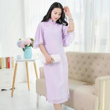 The girl in the long  cheongsam retro Chiffon bridesmaid dresses with skinny sisters daily skirt
