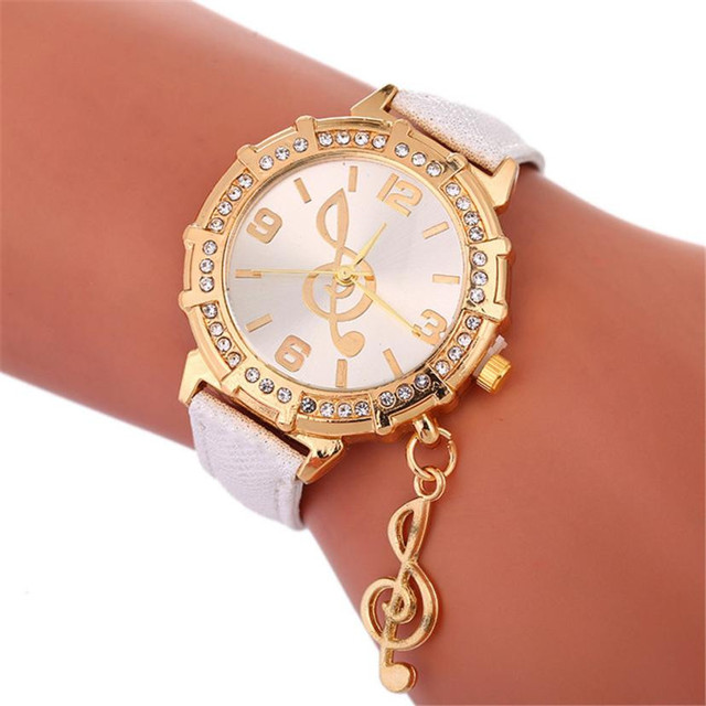 2018 Selling fashion watches Ladies Watch clock Fashion Musical Symbols Bracelet