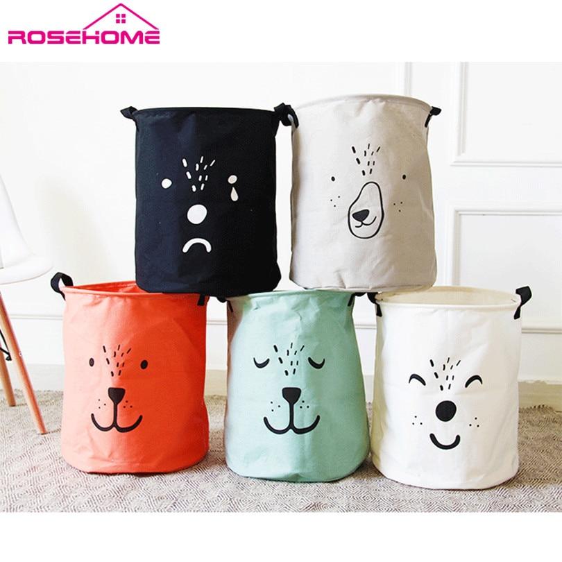 ROSEHOME dier gezicht bedrukte mand voor speelgoed wasmand - Home opslag en organisatie - Foto 1
