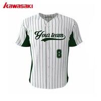 Dark Green Stripes Baseball Jersey