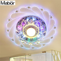 Mabor New Modern Crystal LED Saving Efficient Ceiling Blue flower Light Superior Lamp Fixture Fashion Chandelier