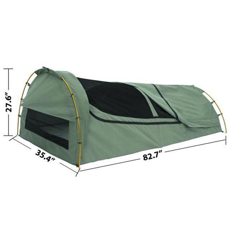 Simple swag haute qualité étanche crème solaire camping tente sac de couchage vue de nuit du toit ventilation moustique (pas de sac de transport)