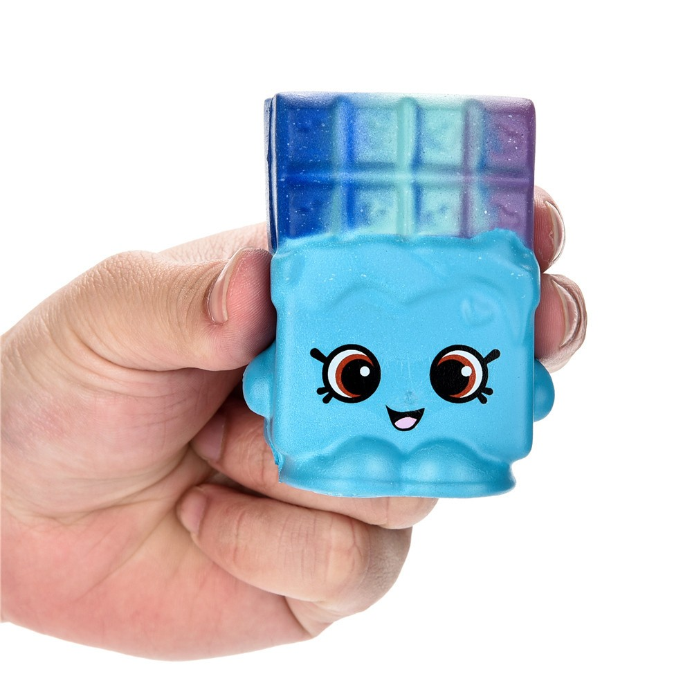 7cm Squishy Toys Cartoon Waffle Slow Rising Scented Squeeze Toy Collection Cure Gift Desk Decoration Stress Reliever