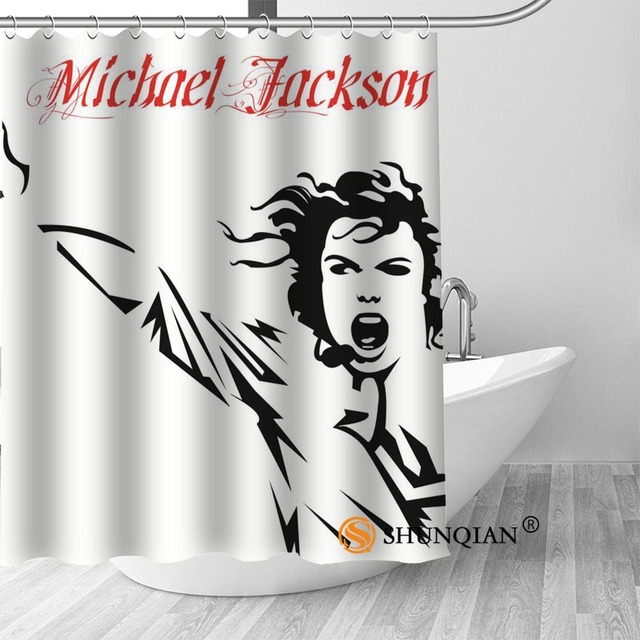 17 Michael jackson shower curtain washable thickened 5c64f7a44eda9