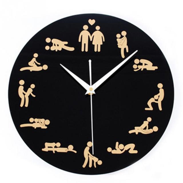2b45242f55d 1 Peças Kama Sutra Sex Position Relógio 24 Horas Sexo Relógio Novidade  Relógio de