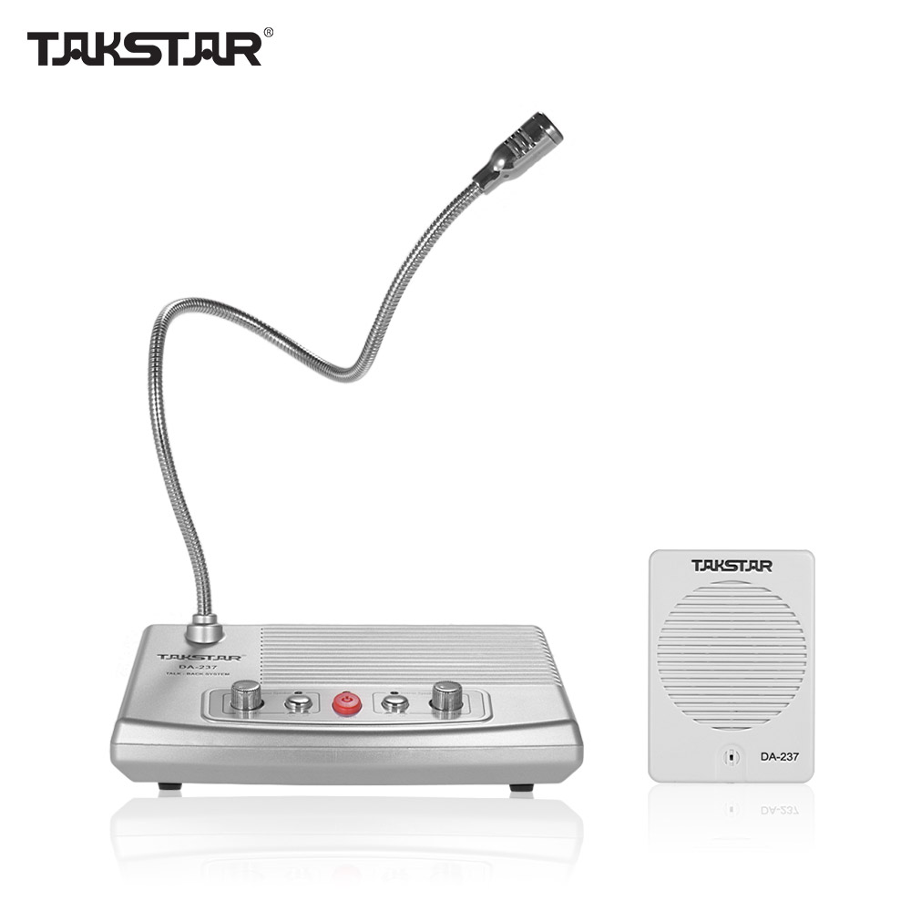 TAKSTAR DA-237 Talk-back System Full-duplex Non-visual Intercom System For Bank & Ticket & Cash Window