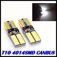 50pcs/lot Free shipping Car Auto LED light T10 led canbus w5w Canbus 24led 4014smd  LED Light Bulb No error led light parking