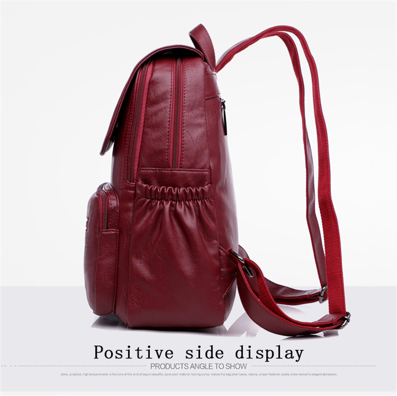 HTB1JUBCfLImBKNjSZFlq6A43FXag LANYIBAIGE 2018 Women Backpack Designer high quality Leather Women Bag Fashion School Bags Large Capacity Backpacks Travel Bags