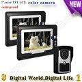 Waterproof Visible wired Home door intercom 7 inch color TFT LCD Doorbells with color camera support video door phone