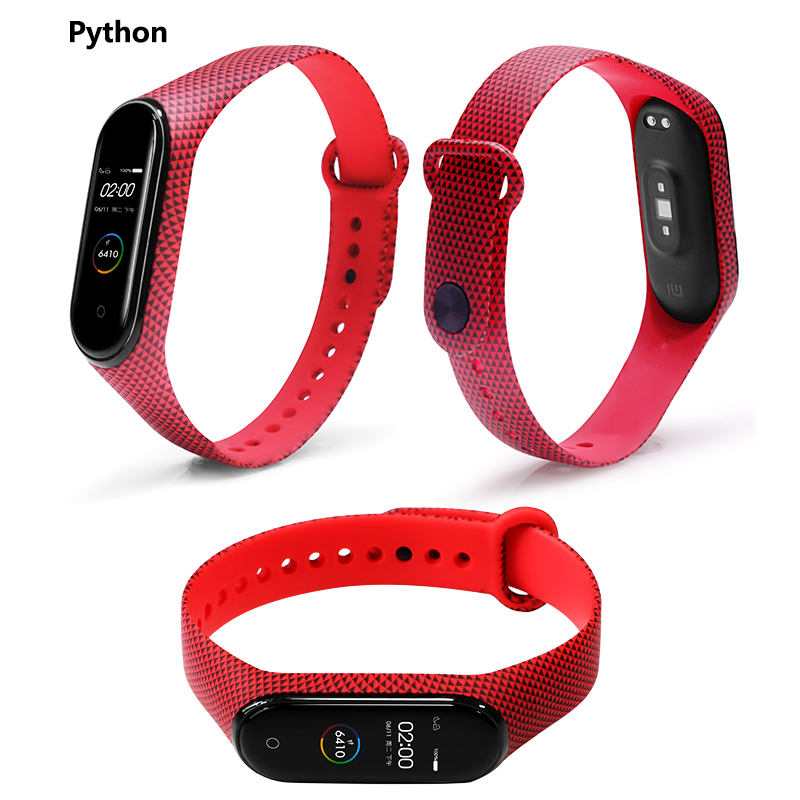 Image 5 - BOORUI for Xiaomi Mi Band 4 Strap Silicone printing flowers miband NFC 4 strap miband 4 accessories for xiaomi mi band 4 band-in Smart Accessories from Consumer Electronics