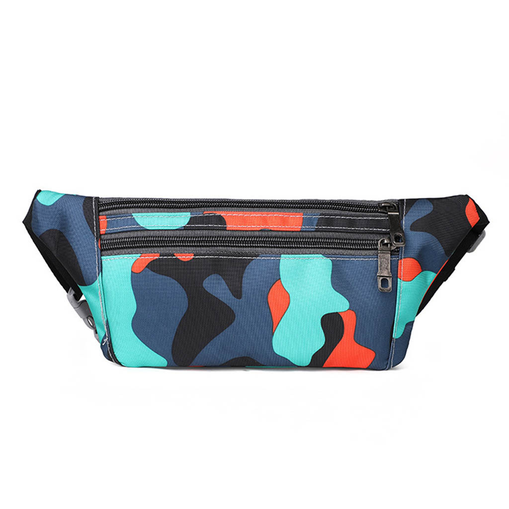 Camouflage Slim Fanny Pack With Belt Bag For Outdoor Pocket Sport Anti-theft Athletic Pocket Multi-function Running Hiking Bag
