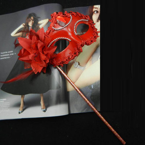 Image 3 - Sexy Prom Wedding Party Mask Women Costume Venetian Cosplay Masquerade Dance Masks Handheld Stick Carnival Purim Festival Parade