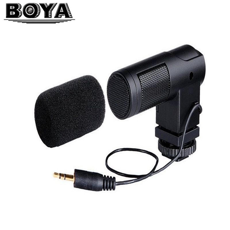 BOYA BY-V01 BY V01 Stereo X / Y Mini Camera Wired Condenser Microphone for Canon Nikon Sony Pentax DSLR Camera цена