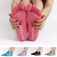 Нескользящие женские носки 1 пара, женские носки для йоги, Нескользящие массажные с резиновым покрытием, теплые носки для фитнеса, гимнастики, танцев, спорта, упражнений, босиком на ощупь