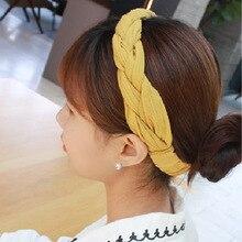 Headband Wholesale Hair-Accessories Fabric Braids Elastic Girls Solid-Color Fashion Women
