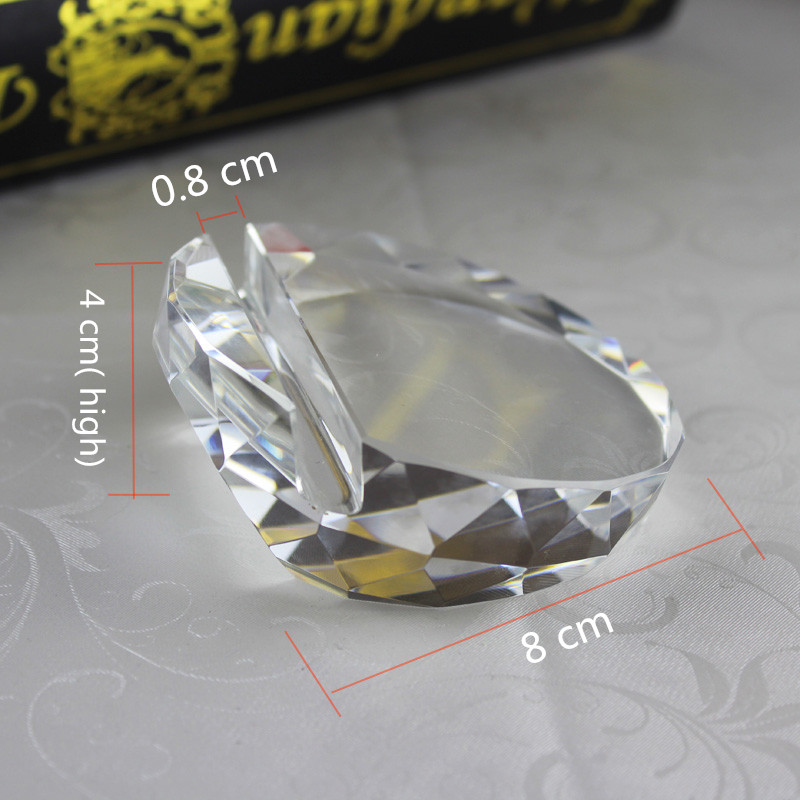 Jqj crystal glass faceted card holder ball paperweight clear rare jqj crystal glass faceted card holder ball paperweight clear rare feng shui office desk decoration business card holders craft in figurines miniatures colourmoves