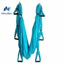 Home gym Aerial Yoga Hammock pilates band workout Yoga Inversion Swing Trapeze Anti Gravity Belt Tool