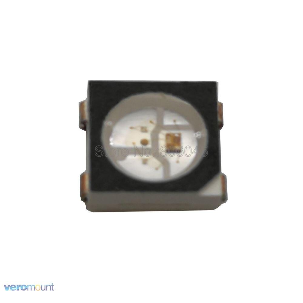 WS2812B LED Chip 10 - 1000pcs 5050 RGB SMD Black/White Version WS2812 Individually Addressable Digital LED Emitter 5V
