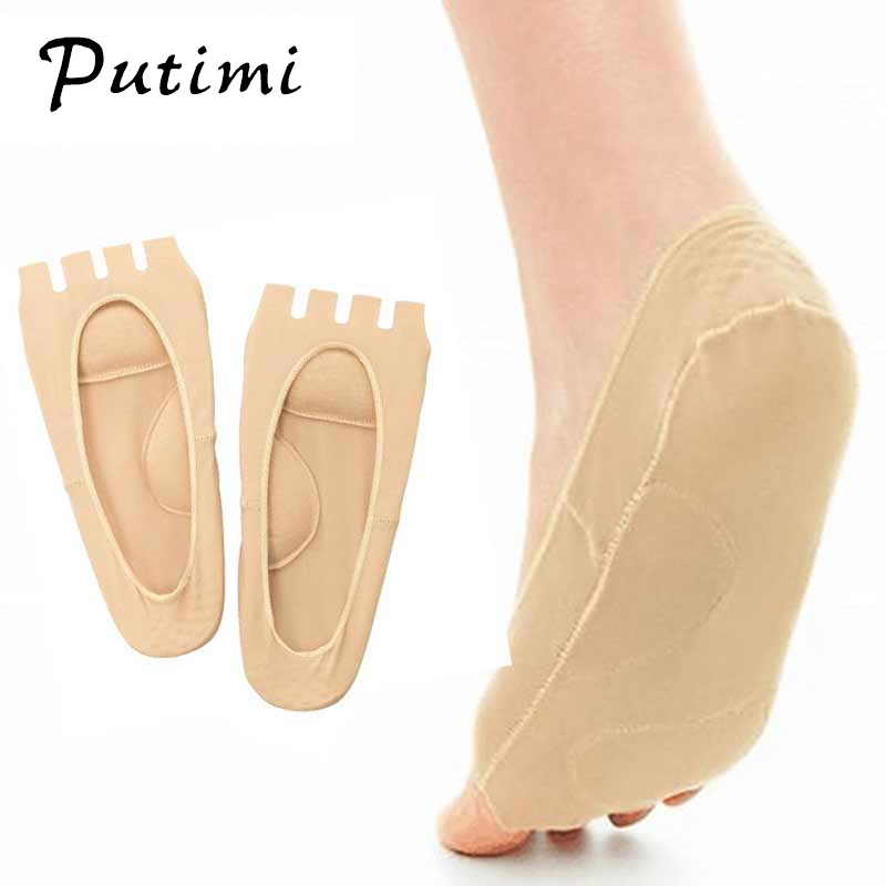 Putimi Plantar Fasciitis Arch Support Insole Pedicure Socks Invisible Open Toe Socks Pain Relief Orthopedic Flatfoot Foot Care