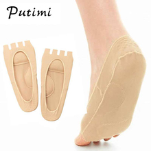 Putimi Plantar Fasciitis Arch Support Insole Pedicure Socks Invisible Open Toe S