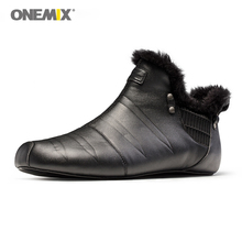 Onemix Winter Indoor Slipper Warm Keeping Unisex Walking Shoes For Men No Glue Jogging Outdoor Plush Sneakers Women Slippers цена