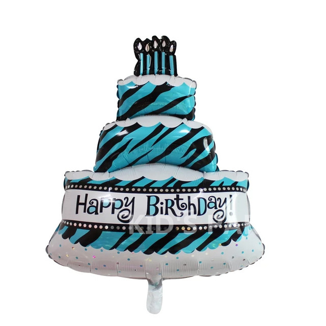 Large Size 36 Inch Tiffany Blue Foil Balloons Happy Birthday Party Decorations Kids Big Ballons Cake Baby Boy Toy