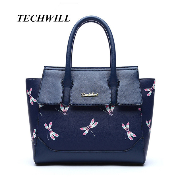 eddf96a64c NEW HOT SALE Dragonfly pattern handbag women casual tote bag female large  shoulder bags for mother high quality PU leather