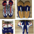 White red blue wrestling boots for USA market brand professinal fitness shoes (footsweeps), ePacket free shipping