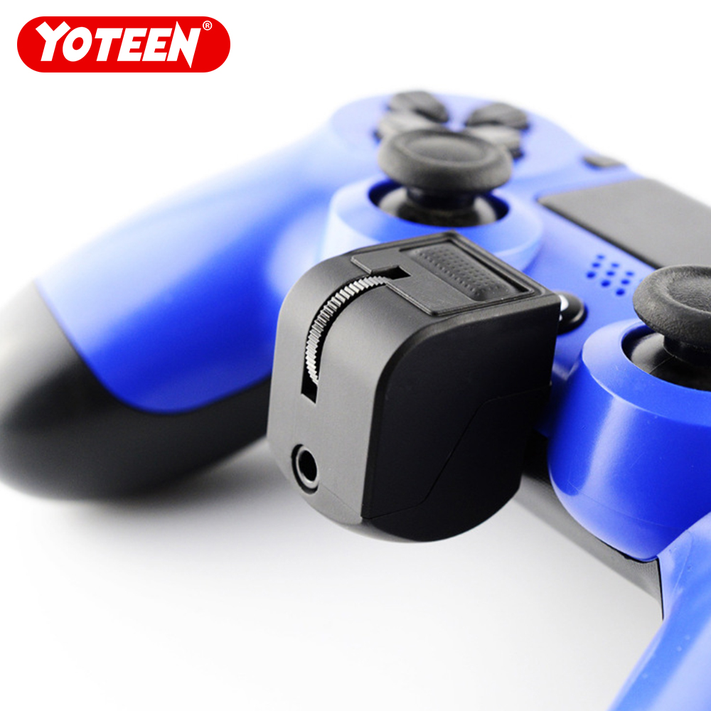 Yoteen 3.5mm Audio Jack For PS4 Game Controller Headset Adapter With Mic Volume Control For PlayStation 4