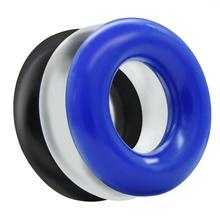 Soft Stretchy Donut Cock Rings Waterproof Silicone Ring Relax- Assorted Pack of 3 Seamless Same Size Different Color Toys