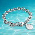 925 sterling silver bracelet 16-22 cm small circular brand bracelet is contracted, fashion, suitable for  women