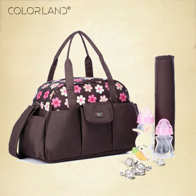 Colorland baby Travel mummy Maternity Diaper Messenger Nappy Bag Organizer Handbag Bags For Mom for babys bolsa maternidade copper plating video display card cooling fan for 55 60mm pitch golden translucent