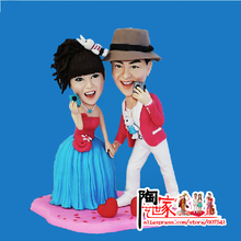 2016 new productor hand made a statue Custom Polymer Clay Doll From Pictures wedding Gift DIY Toy