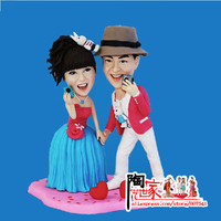 2018 AMAZING CAKE TOPPER productor hand made a statue Custom Polymer Clay Doll From Pictures wedding Gift DIY Toy