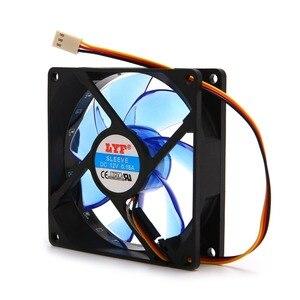 Image 5 - 90ミリメートルledライト3pin pcのデスクトップコンピュータケース冷却クーラーファン低ノイズ9025グリーン/レッド/ブルー