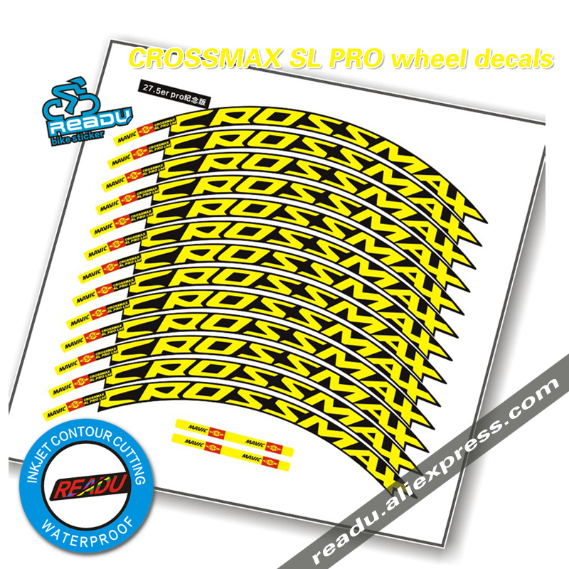 CROSSMAX SL PRO MTB wheel sticker sticker width 17mm PRO bicycle wheel decals bike stickers for two wheels decals