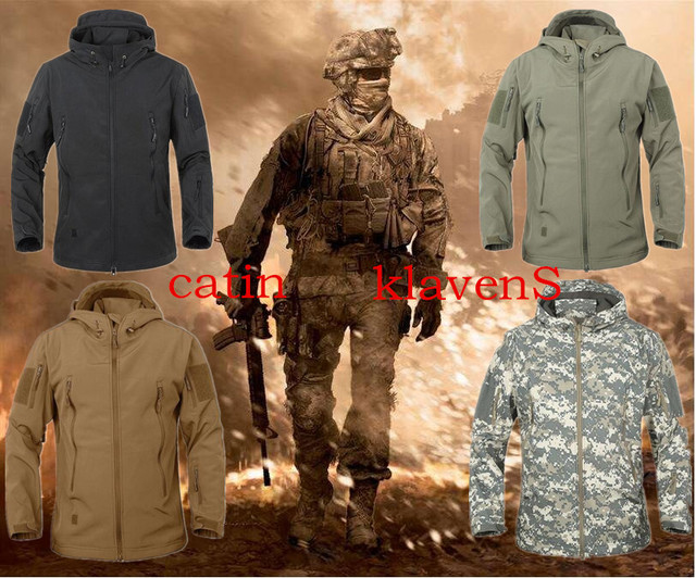 5e7abc1ffa Lurker Shark Skin Soft Shell V4 Military Tactical Jacket Men Waterproof  Windproof Warm Coat Camouflage Hooded Camo Army Clothing