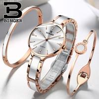 Switzerland BINGER Luxury Women Watch Brand Crystal Fashion Bracelet Watches Ladies Women wrist Watches Relogio Feminino 2019