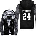 TV Show Teen Wolf Stilinski sweatshirt Men Graphic Cotton hooded long Sleeve thick jacket autumn winter keep warm brand clothes
