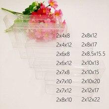 50 pcs 2 xWxH Caixa De Pvc Transparente Caixas De Plástico Transparente De Armazenamento de Jóias Caixa de Presente de Casamento/Natal/Doces/ partido Para a Caixa de Embalagem do Presente