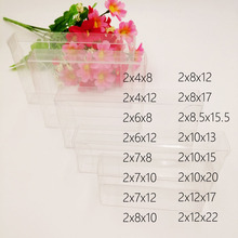 50pcs 2xWxH Pvc Box Clear Transparent Plastic Boxes Storage Jewelry Gift Box Wedding/Christmas/Candy/Party For Gift Packing Box