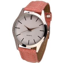 Ladies Mens Leather Quartz Analog Dress Bracelet Wrist Watch  High quality watches #110717