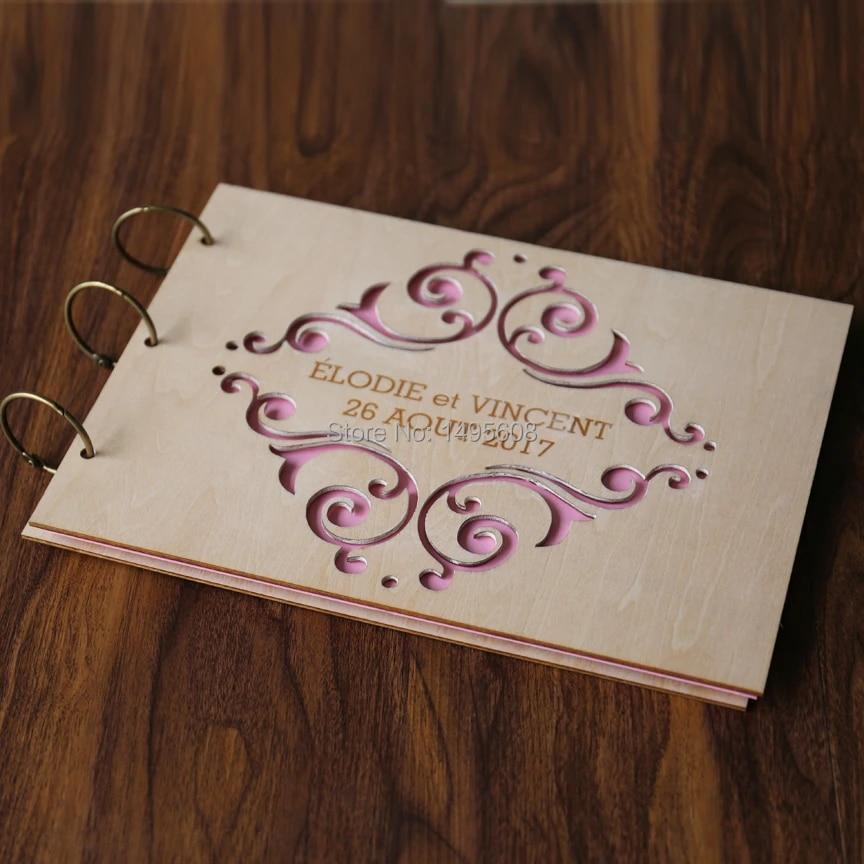 Custom Wood Wedding Guest Book Wedding Album Laser Engraved Personalized Guest Book Wedding Album Album Weddingwedding Album Book Aliexpress