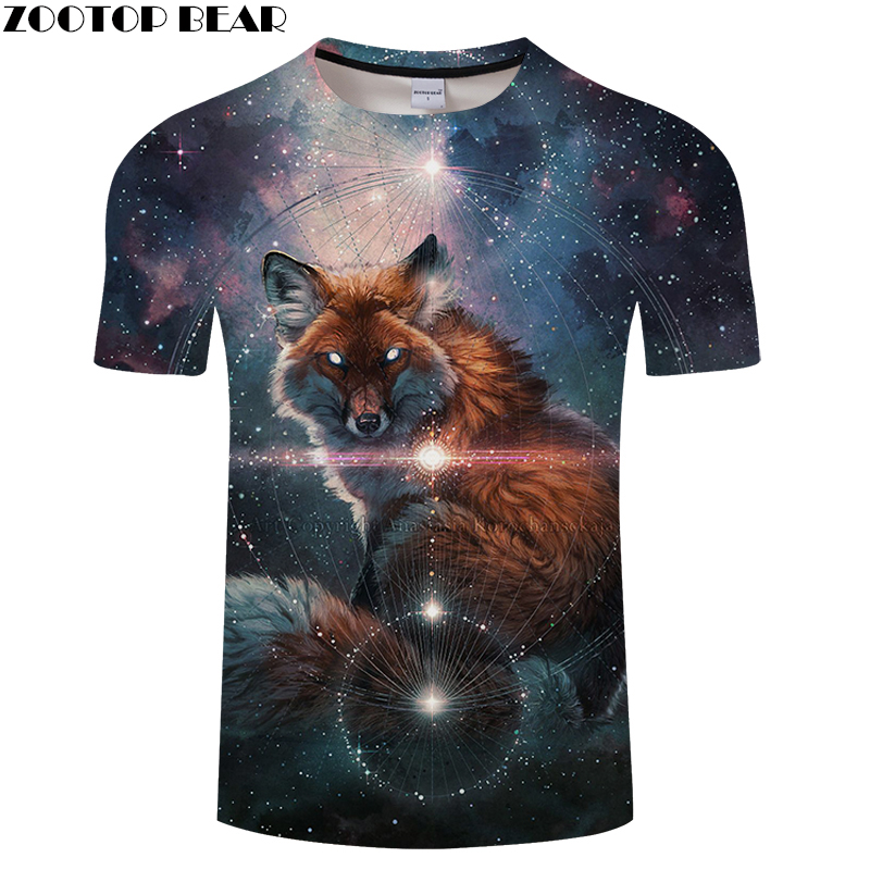 Galaxy 3D t shirt Men tshirt Summer Tees Casual Tops Short Sleeve T-Shirt Groot Camisetas Wolf Print Drop Ship ZOOTOP BEAR