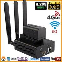 HEVC H.265/H.264 3g/4G LTE 1080 P HD HDMI видео видеоэнкодер HDMI передатчик Live широковещательный кодер беспроводной H264 IPTV кодер WI FI